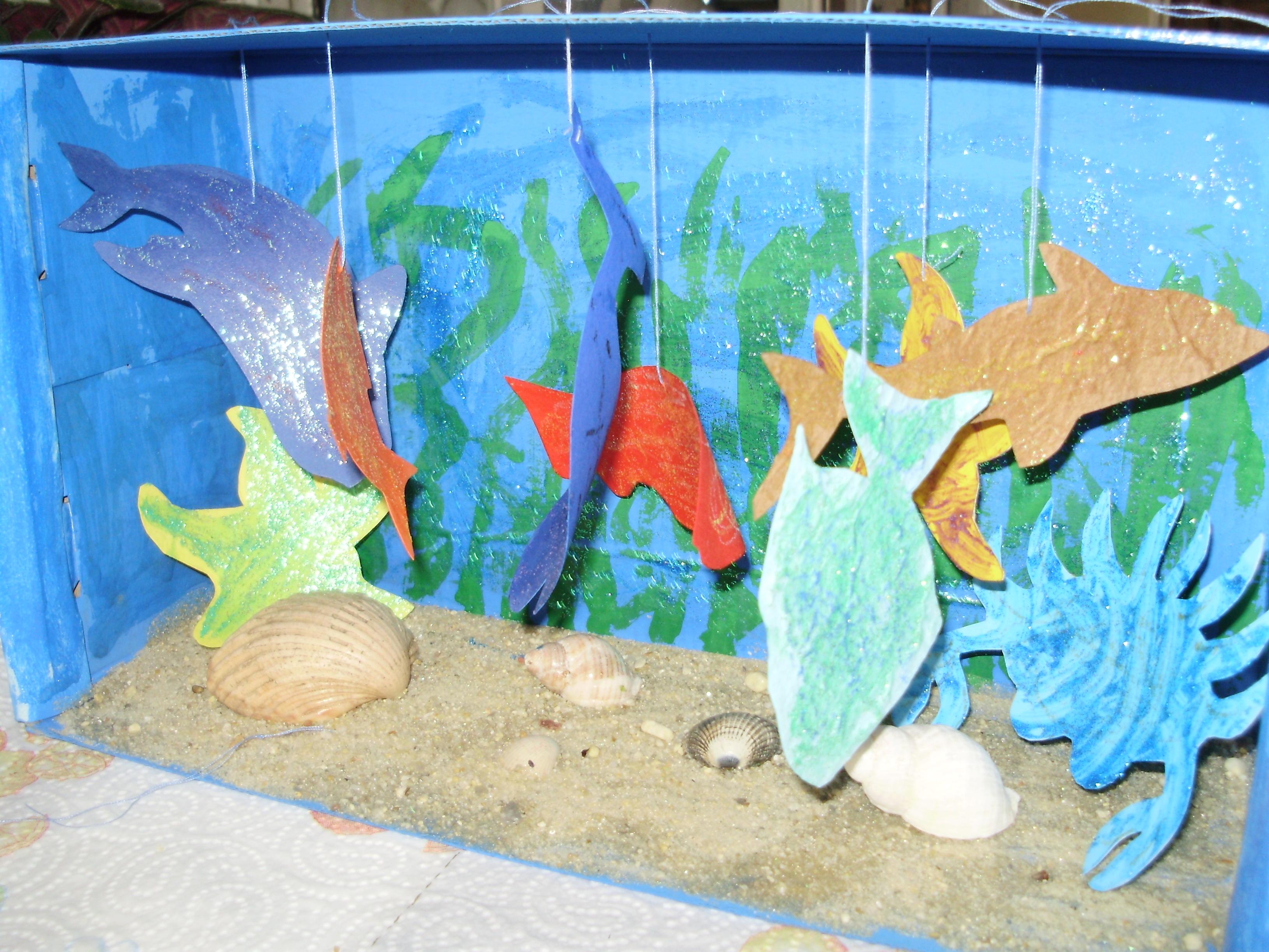 Fabrication d 39 un aquarium - Fabriquer un elephant en carton ...